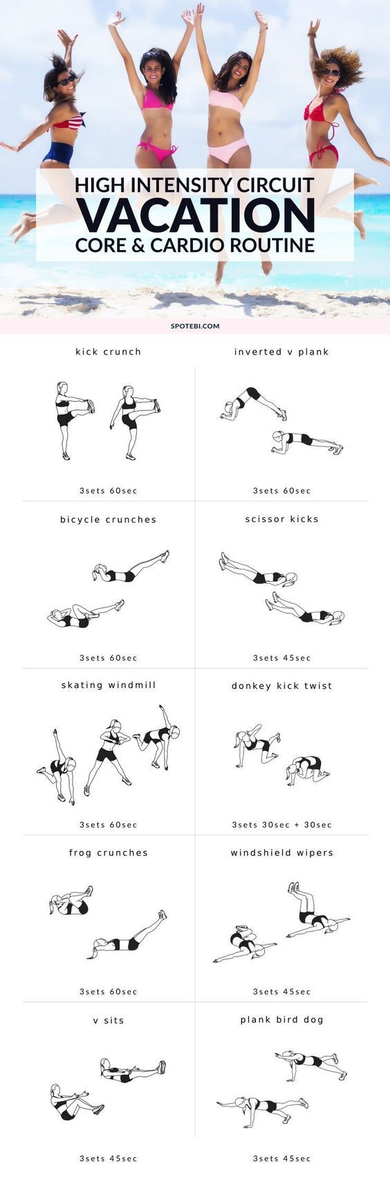 63 Best Health And Fitness Images On Pinterest Workouts Bikini How Do You Create Your Circuit Board Design With Routine Dullness Get Tummy Slim Tight While Vacation This No Equipment High