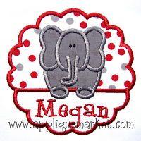 Embroidery Design Scallop Font Applique Zig Zag
