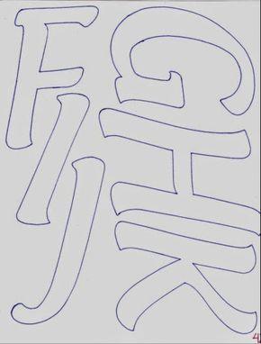 Moldes Gratuitos: Abecedario de Letras Alargadas