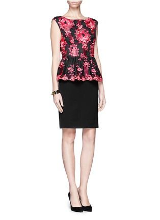 ALICE + OLIVIA - Floral embroidery peplum dress | Multi-colour Cocktail Dresses | Womenswear | Lane Crawford