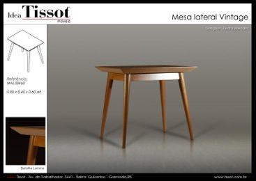 Mesa lateral Vintage madera
