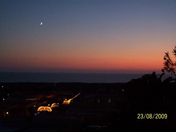 La luna a Linosa agosto 2009