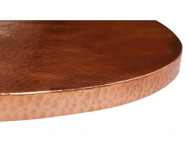 Round Copper Table Tops - Polished Patina