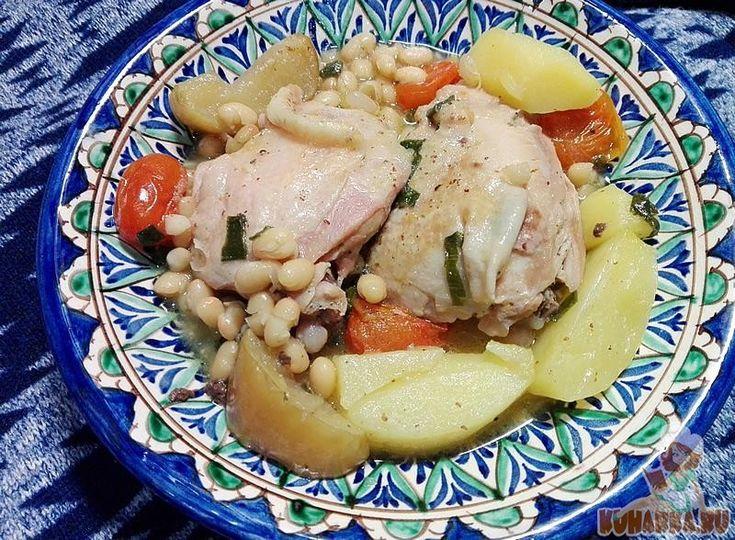 Курица с горчицей и овощами в мультиварке