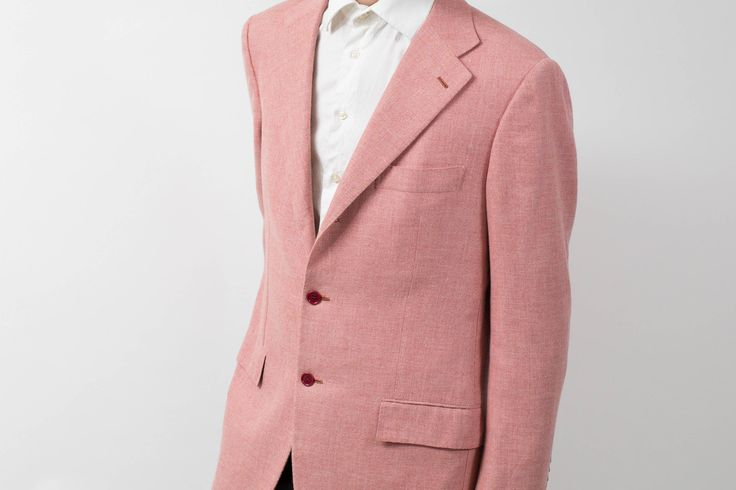 Mens Sports Jacket Blazer / Vintage Large Sartoria Caprese Pink Jacket by PrincipalVintage on Etsy