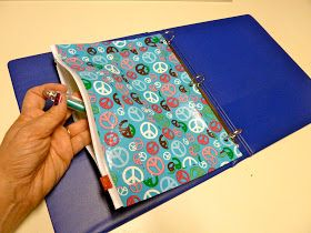 Make it easy crafts: Binder Pencil Pouch from Duct Tape and a storage bag