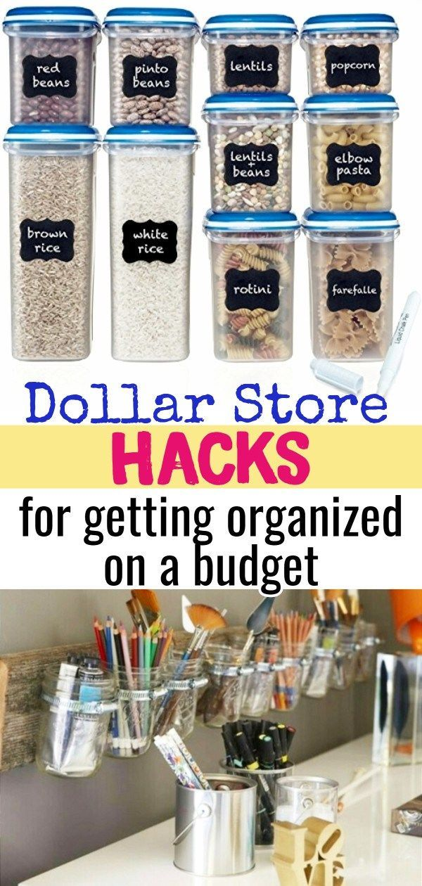 Dollar Store organizing on a budget! Below are some some GENIUS organizing hacks…