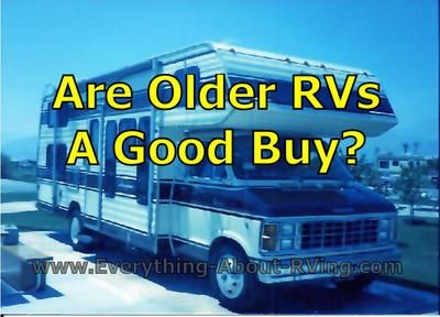 Here Is our answer to Are Older RVs a Good Buy? I have seen c class RVs 1998 to 2005 with low mileage some as low as 20,000 miles could these be good buy's or should I stay away from these oldies just because of age. Read More: http://www.everything-about-rving.com/are-older-low-mileage-rvs-a-good-buy.html