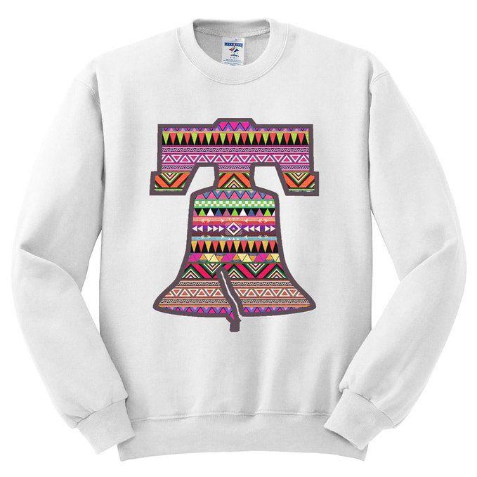 Moment Gear Aztec Pattern On Liberty Bell Mens Sweatshirt