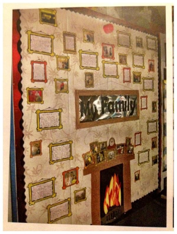 Family Album. My favourite,the family wall! Complete with family photos and stories! Mrs C :)
