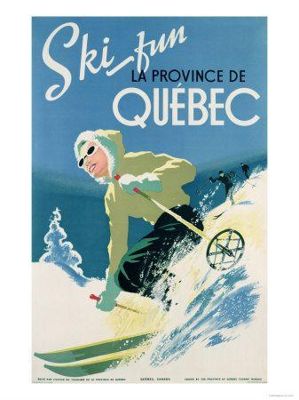 Ski Quebec - Vintage poster