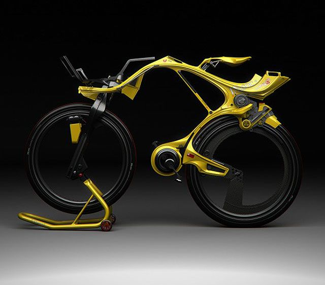 """The NgSOC bycicle is one of a kind: designed by Edward Kim and Benny Cemoli (or may be by Aliens, we're not sure), it's an electric bycicle that has a battery pack just near the seat which powers the vehicle when in electric mode (and keeps your behind warm in the winter). If you feel like pedaling, it is possible to switch into mixed or full """"human-powered"""" mode , which charges the battery at the same time."""