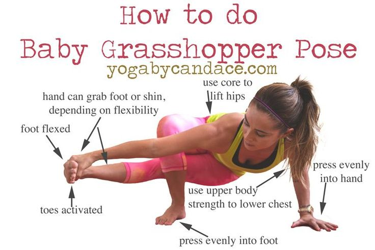 Pin it and learn how to do this cool arm balance! The post includes a video of how to get into it as well.