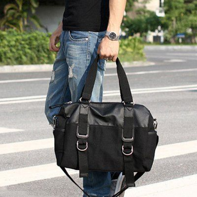 Splicing Canvas Metal Briefcase #CLICK! #clothing, #shoes, #jewelry, #women, #men, #hats