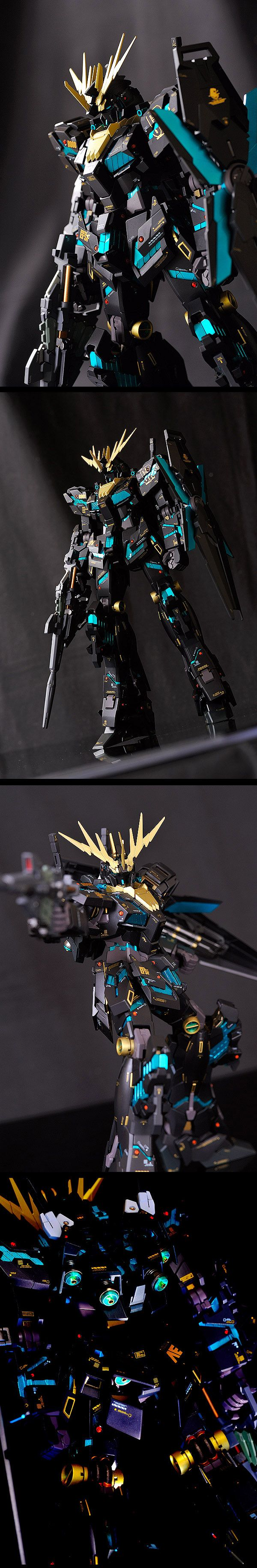 MG Full Armor Unicorn Gundam Banshee [Ver.覚醒] w/Base Jabber: Remodeling Work by Gatto Nero [がっとねろ] Full Photoreview Wallpaper Size Images [WIP too], Info | GUNJAP