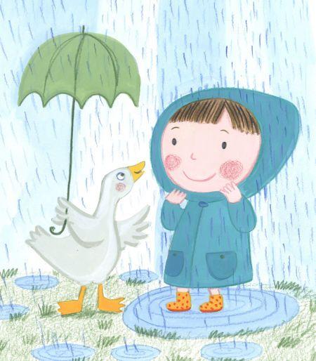 umbrellas.quenalbertini: Kay Widdowson - Rain And Duck