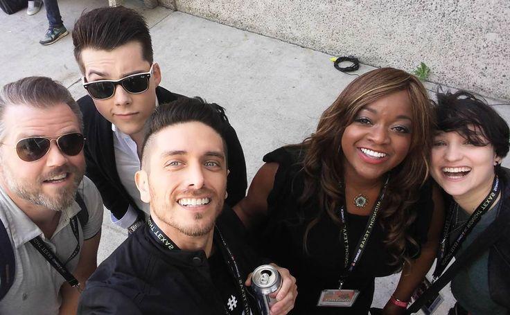 Tyler Labine, Jeremy Shada, Josh Keaton, Kimberly Brooks & Bex Taylor-Klaus at WonderCon 2017 - from Josh's Instagram -