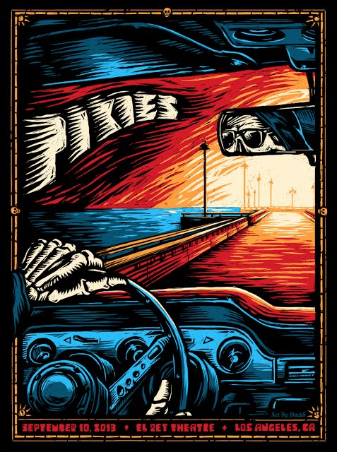 Pixies Los Angeles Night 2 Poster by Mark 5 World Premier Exclusive