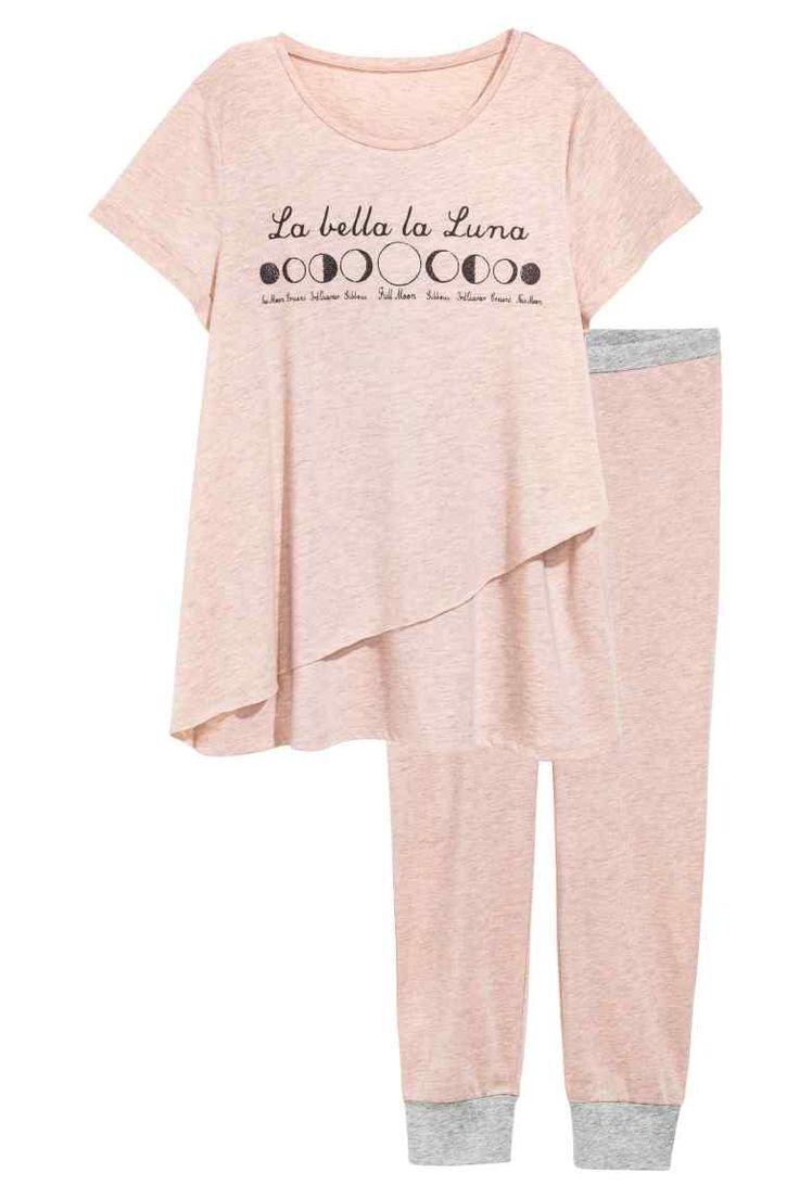 MAMA Nursing pyjamas - Old rose - Ladies | H&M IE