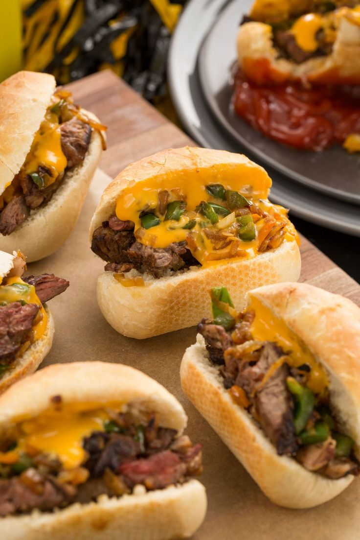 Philly Cheesesteak Sliders Will Get MVP At Your Super Bowl Party  - Delish.com