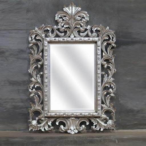 Grand miroir Baroque argenté decodesign / Décoration