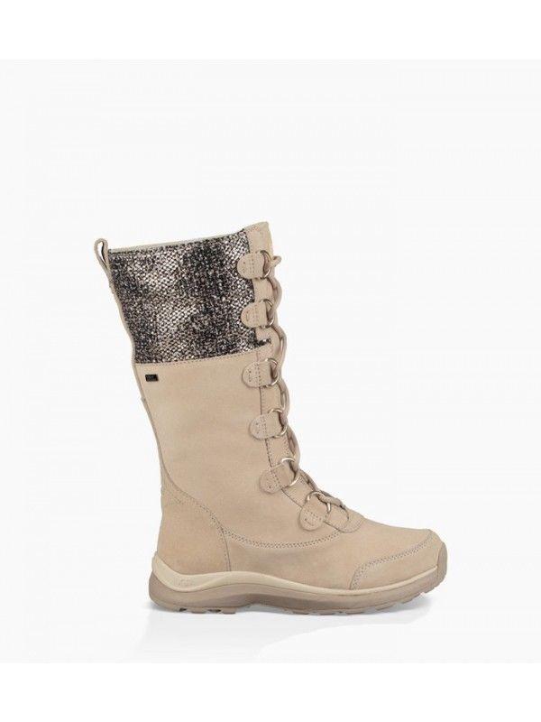 Womens Ugg Australia Atlason Frill Cream Suede Boots Size 8.5 #UGGAustralia #SnowWinterBoots