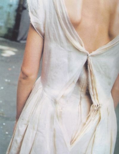 "Comme des Garçons fine layered cotton dress from the ""Clustering Beauty"" collection, Spring/Summer 1998: #weddingdress #cotton"