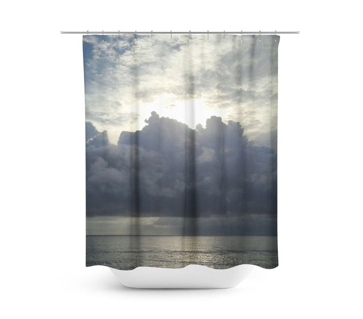 Ocean Shower Curtain, Cloud Shower Curtain, Photo Shower Curtain, Custom Shower Curtain, Bath Curtain, Modern Shower Curtain, Two Sizes by PillowsforthePlanet on Etsy https://www.etsy.com/listing/469061892/ocean-shower-curtain-cloud-shower