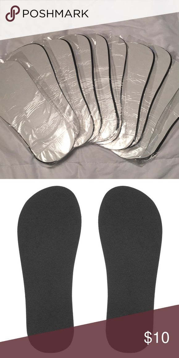 Spray Tan Foam Foot Pads [bundle of 10] 10 pairs of individually wrapped foam adhesive foot pads for spray tanning  Covers the sole of the foot to prevent staining from being in the tent/booth.  Non slip foot protection Other