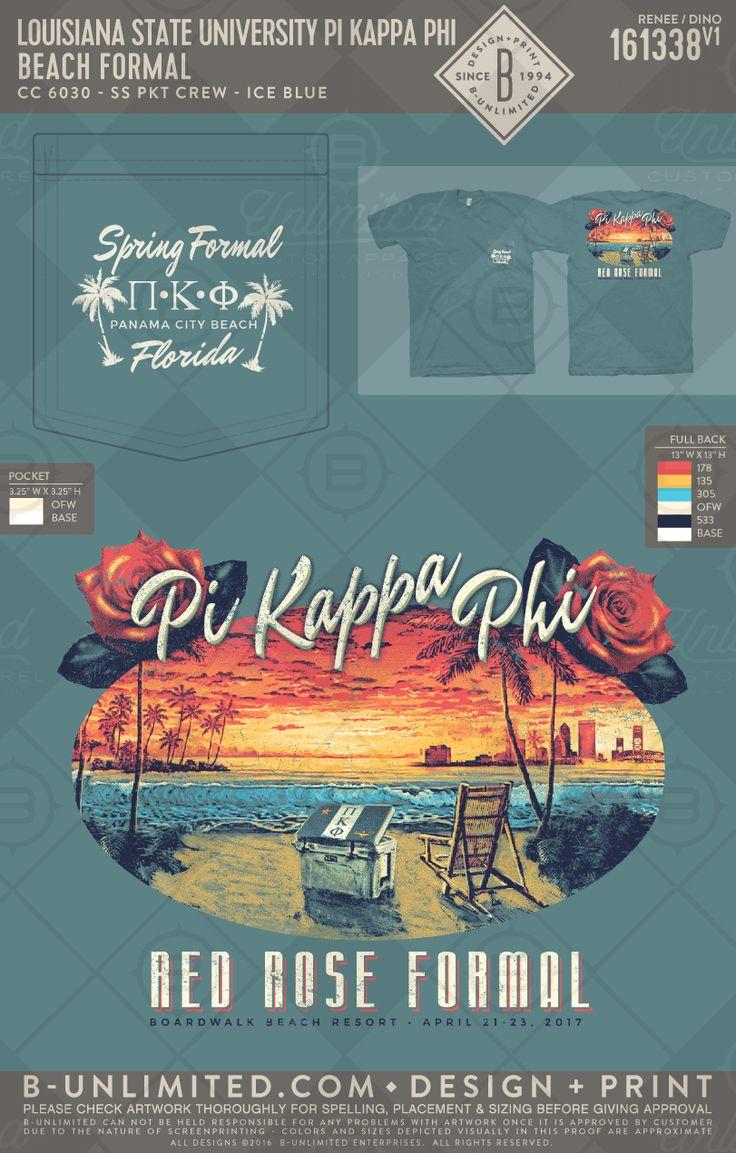 LSU Pi Kappa Phi Beach formal #BUonYOU #greek #greektshirts #greekshirts #fraternity #PiKappaPhi #beach #coolor #beachchair #redroseformal #formal #function