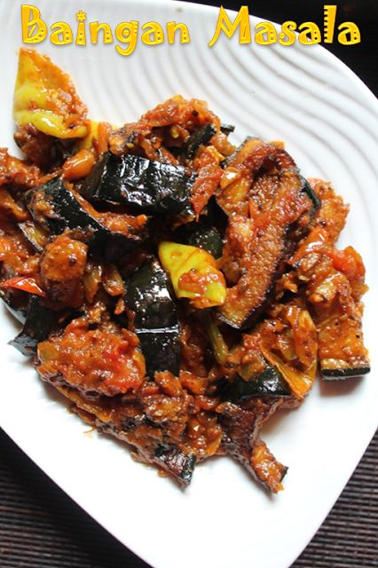 YUMMY TUMMY: Baingan Masala Recipe / Fried Brinjal Masala Recipe