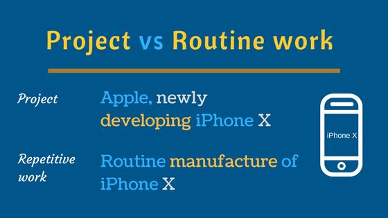 project vs routine work