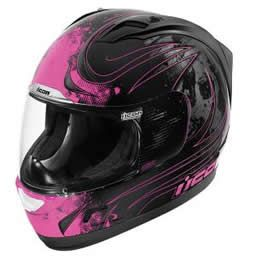Women's Black Pink Icon Motorcycle Jacket | Icon Alliance Threshold Women S Motorcycle Helmet Black Pink X ...