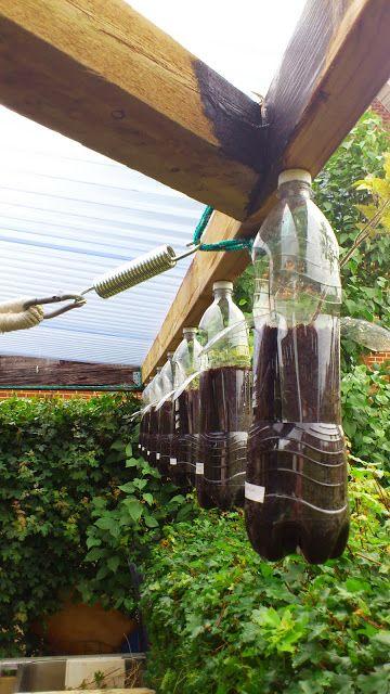 Frønørden's Blog: great way to hang pet bottle planters