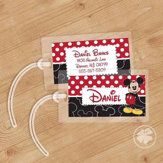 Travel in Disney Style with Fun Mickey Mouse Luggage Tags