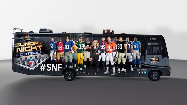 | Carrie Underwood is featured on the side of the Sunday Night Football ...