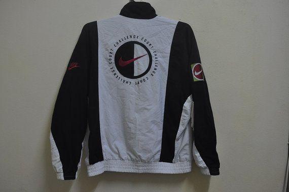 RARE Vintage NIKE Bomber Jacket,Vintage Nike Tennis Jacket,Nike Challenge Court,Hip Hop RAP,Vintage Nike Sport Jacket