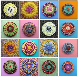 SAABYE P: Broderede knapper - lavet af Birthine