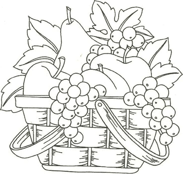 Fruit Basket Would Make A Nice Applique Pattern