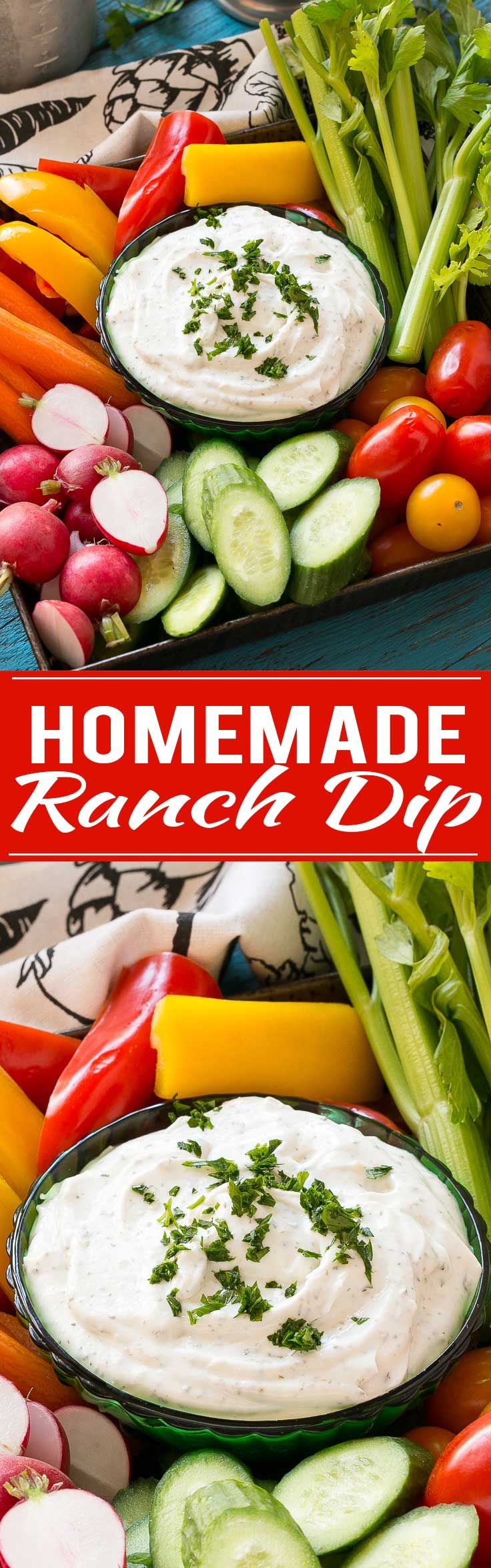 Make your own ranch dip and skip all the MSG and preservatives in the store bought kind.
