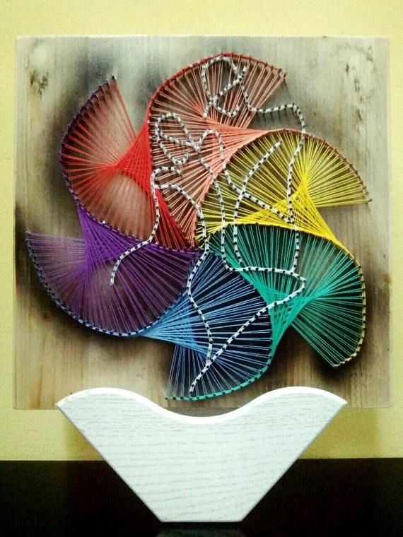 StringArt/ Dance /3D Art/Lovers/Handmade Wall Decoration/ Special occasion gift/Nail and string art