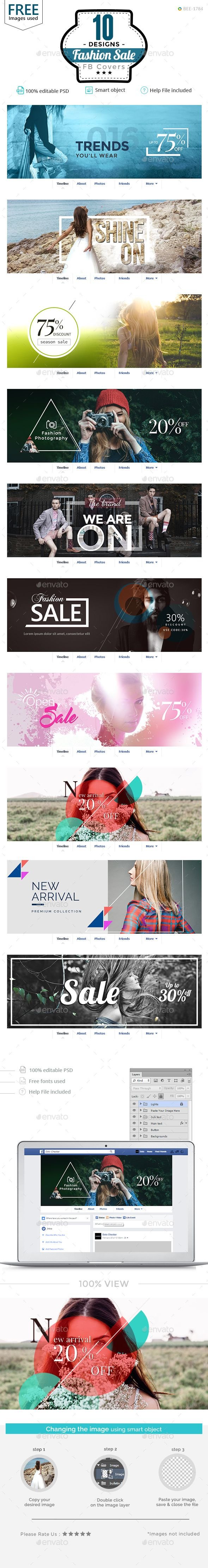 Fashion Sale Facebook Covers Design Template - 10 Designs - Facebook Timeline Covers Social Media Design Template PSD. Download here: https://graphicriver.net/item/fashion-sale-facebook-covers-10-designs/18921453?ref=yinkira