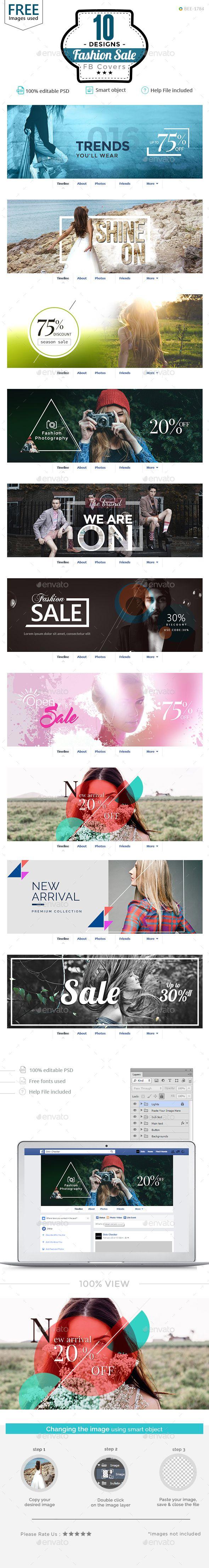 Fashion Sale Facebook Covers - 10 Designs