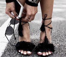 2016 FashionTassel Vrouwen Pompen Designer Peep Toe Hoge Hakken Schoenen Vrouwen Party Schoenen Vrouw Dames Open Teen Lace up Sandalen(China (Mainland))