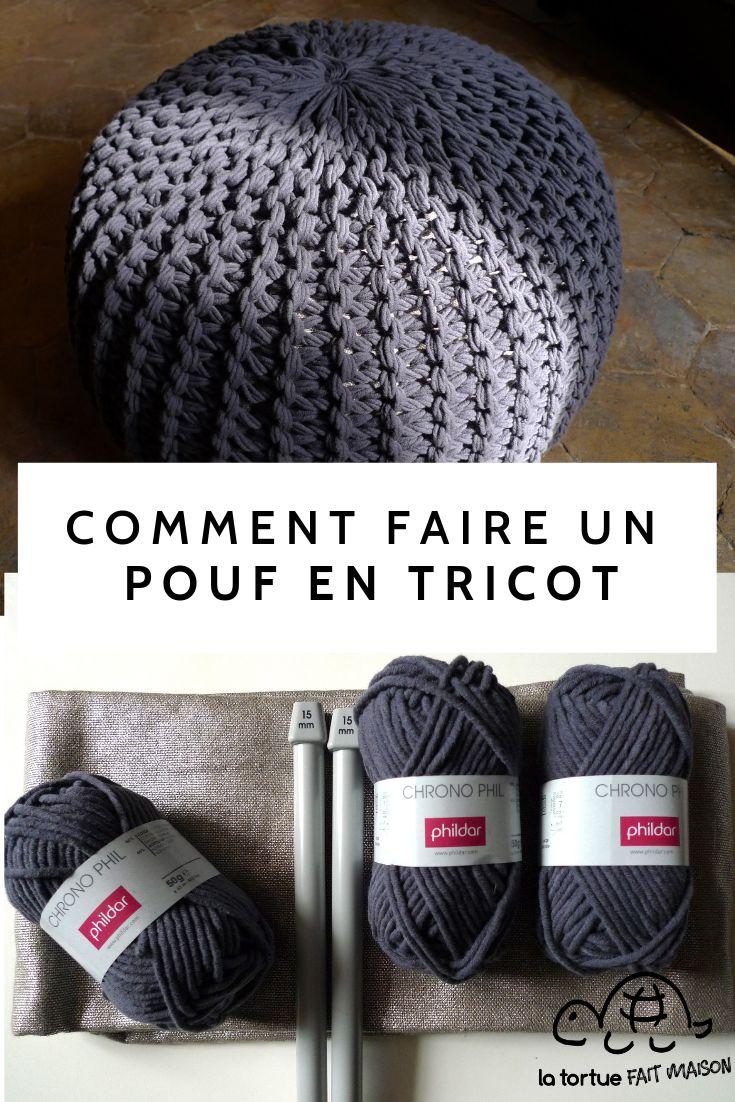 Comment faire un pouf en tricot ?   Tricot, Pouf tricoté, Béret en crochet