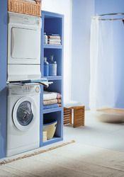 17 meilleures id es propos de armoire linge de salle - Meuble salle de bain lave linge ...