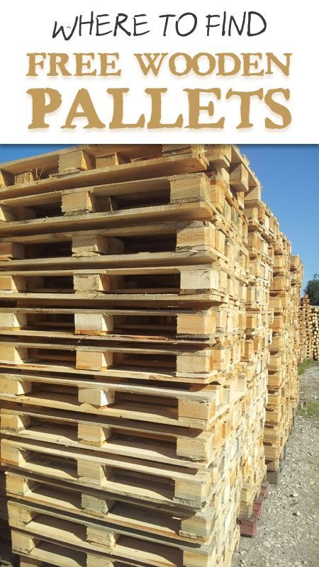Learn where you can get wooden Pallets for free.