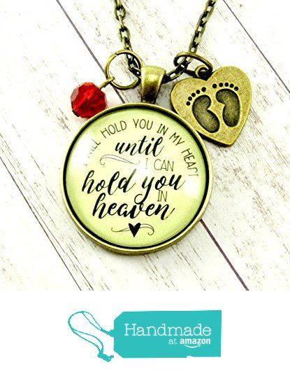 Baby Loss Necklace 'I Will Hold You In My Heart Until I Hold You in Heaven' Miscarriage Jewelry Infant Loss, Feet Heart Charm, Birthstone Month from Gutsy Goodness https://www.amazon.com/dp/B01E15KU8G/ref=hnd_sw_r_pi_awdo_4QQOxbPAN1D8K #handmadeatamazon