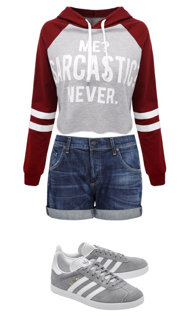 """Casual"" by juanaguzman on Polyvore featuring Citizens of Humanity, WithChic and adidas Originals"