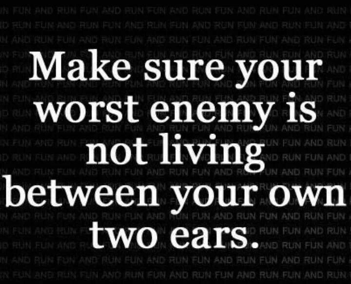 Je grootste vijand zou je zelf wel eens kunnen zijn